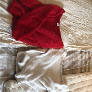 Sweaters - Set of TWO Victoria's Secret fuzzy sweaters
